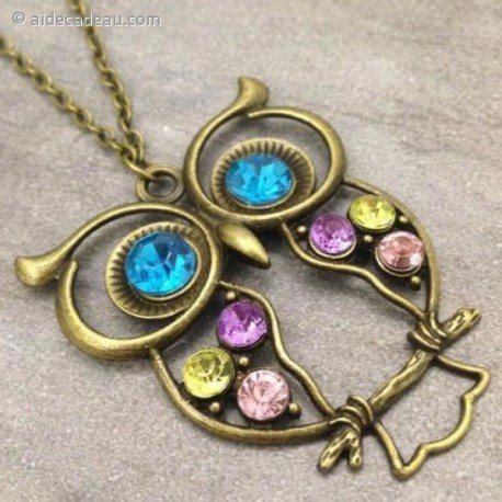 Le collier pendentif hibou