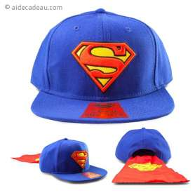 Casquette Superman avec cape rouge