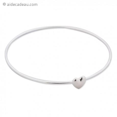 Le bracelet fin argenté petit cœur