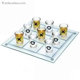 Jeu du morpion à boire en verre 9 verres shooters