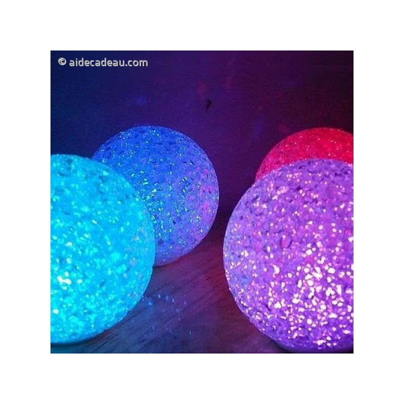 boule lumi re led multi couleurs. Black Bedroom Furniture Sets. Home Design Ideas