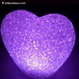 Coeur lumineux LED : couleur variable