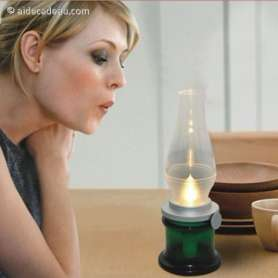 Lampe magique contrôlée par le souffle
