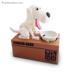 Tirelire chien mangeur de pièces