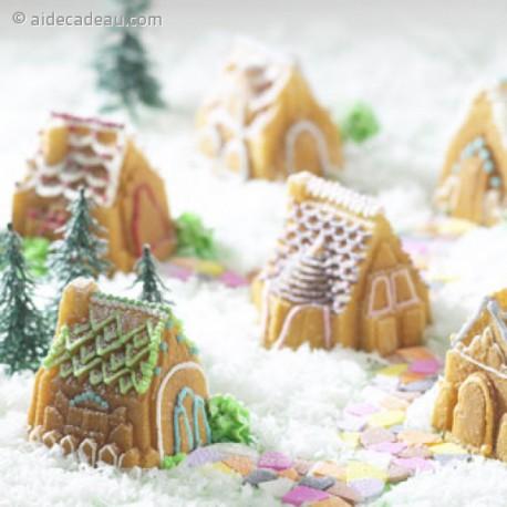 Moule à gâteau village en silicone