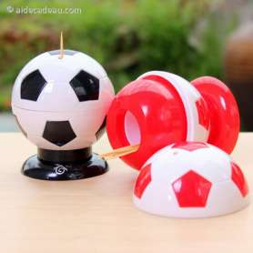 Distributeur de cure-dents ballon de foot