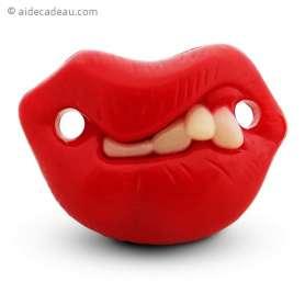 Tétine humoristique petites dents pour bébé