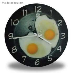 horloge œufs sur le plat