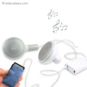 Haut-parleur écouteurs géant