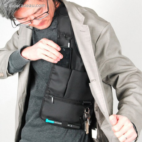 Sacoche 007 sécurité antivol gilet