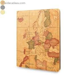 Etui cuir iPad 1, 2, 3 carte du monde