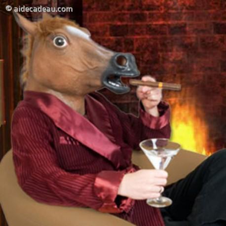 Masque cheval géant en latex