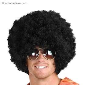 Perruque noir afro
