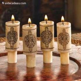 4 bougies bouchon de vin