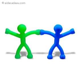 2 bonhommes flexibles aimantés mains et pieds