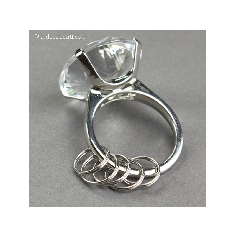 Populaire Porte-clés bague diamant rose - AideCadeau.com SL04