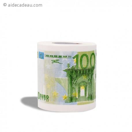 Rouleau de papier toilettes 100 euros