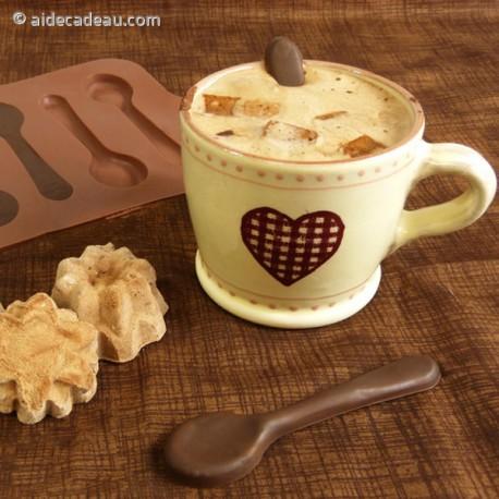 Moule siliconne 6 petites cuillères chocolat