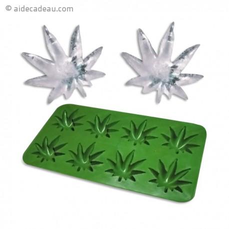 Moule bac à glaçons et chocolat cannabis
