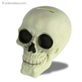 Tirelire tête de mort fluorescent