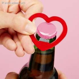 Porte-clés décapsuleur coeur