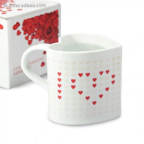Mug thermo-réactifs I love You