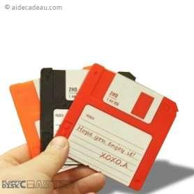 6 dessous de verre disquettes colorées