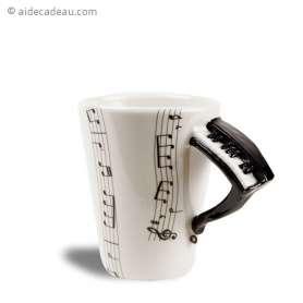 Tasse musique anse piano
