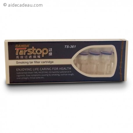 Boîte 10 filtres à cigarettes anti nicotine et goudron