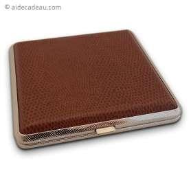 Boîte à cigarette marron émaillé