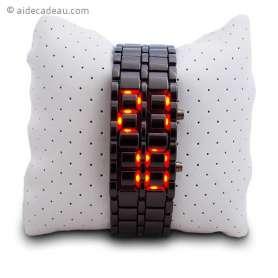 Montre LED heure sur bracelet