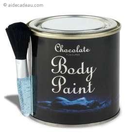 Pot de peinture pour corps goût chocolat