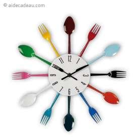 Horloge couverts fourchettes et cuillères