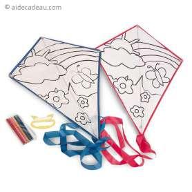 Cerf-volant pour coloriage 5 feutres