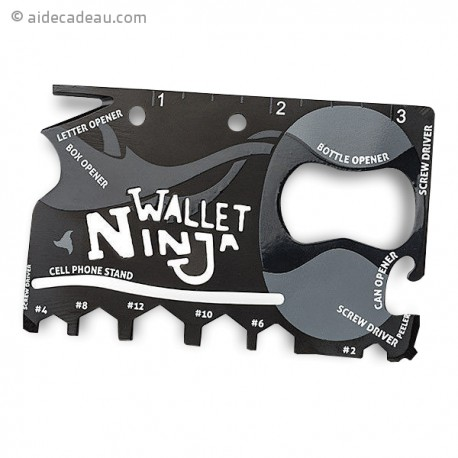 Carte Ninja pour portefeuille 18 outils