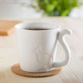 Tasse anse queue de chat