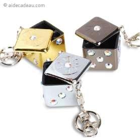 Cendrier de poche dé porte-clés