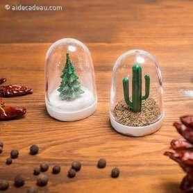 Salière et poivrière sapin cactus