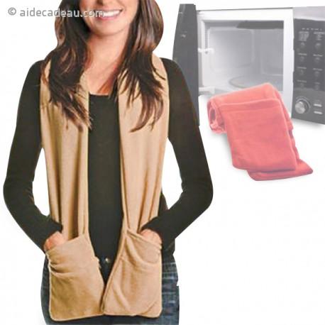 Écharpe à poches chauffantes au micro-ondes