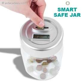 Tirelire jar compteur de monnaie
