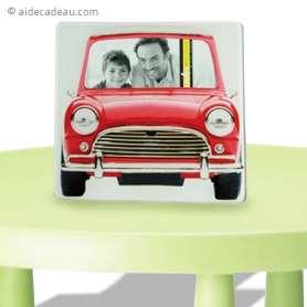 Cadre photo voiture rouge vintage