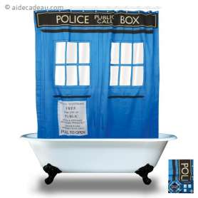 Rideau de Douche imperméable Tardis Dr Who