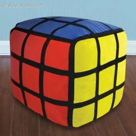 Pouf Rubik's cube gonflable