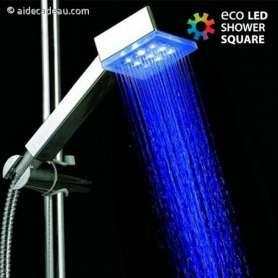 Pommeau de douche à LED lumineux RVB