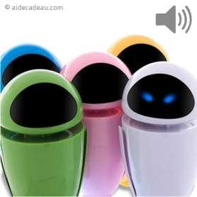 Haut Parleur Cyber Robot avec fonction Radio FM Micro SD et USB