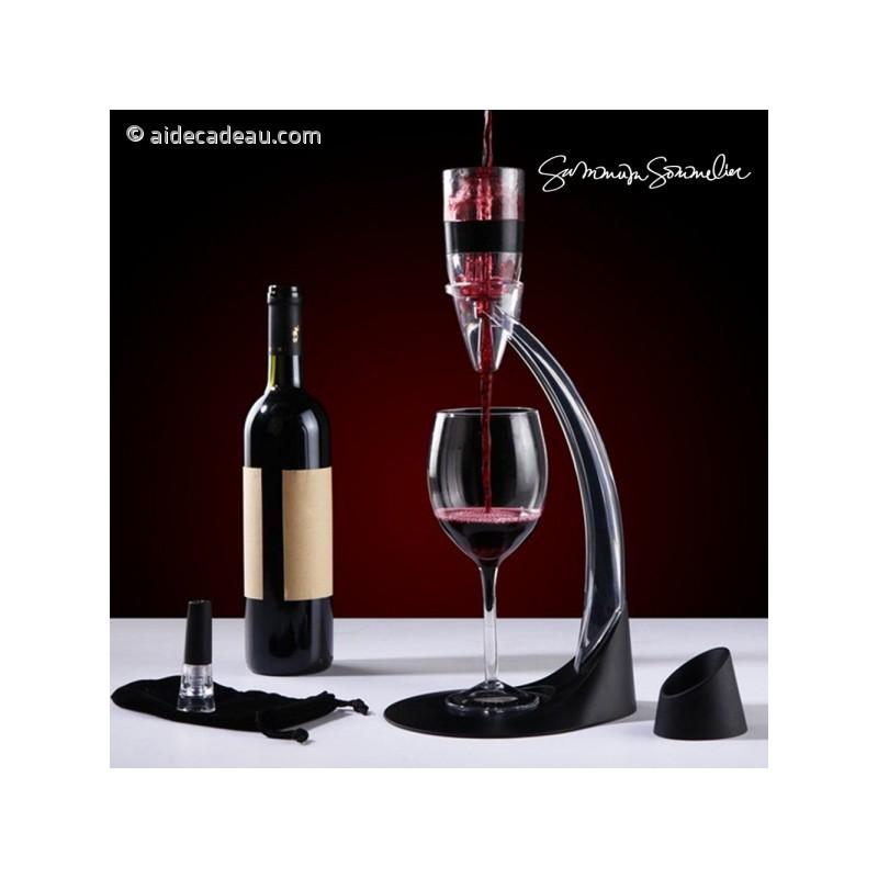 Décanteur À Vin décanteur de vin avec pied aérateur deluxe - aidecadeau