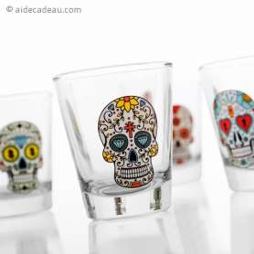 Set de 4 verres à shot Calavera shooter