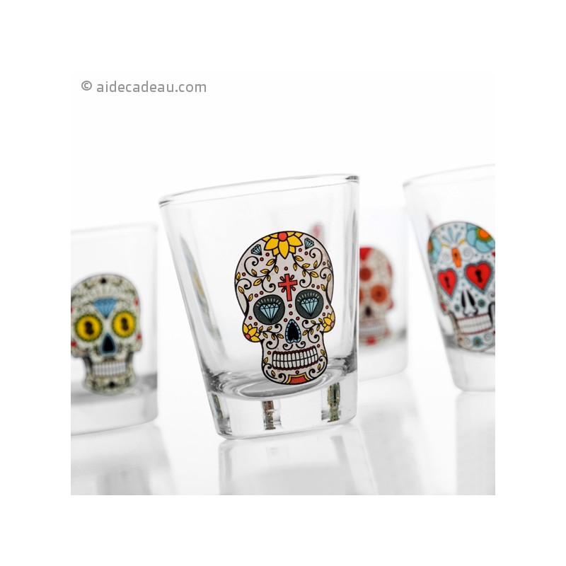 set de 4 verres shot calavera shooter. Black Bedroom Furniture Sets. Home Design Ideas