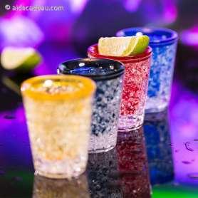 Lot de 4 verres shooters à double paroi réfrigérante