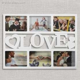 Cadre Love coeurs pour 6 photos